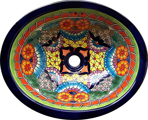 Talavera Mexican Handmade Hand Painted Sink by Color y Tradicion