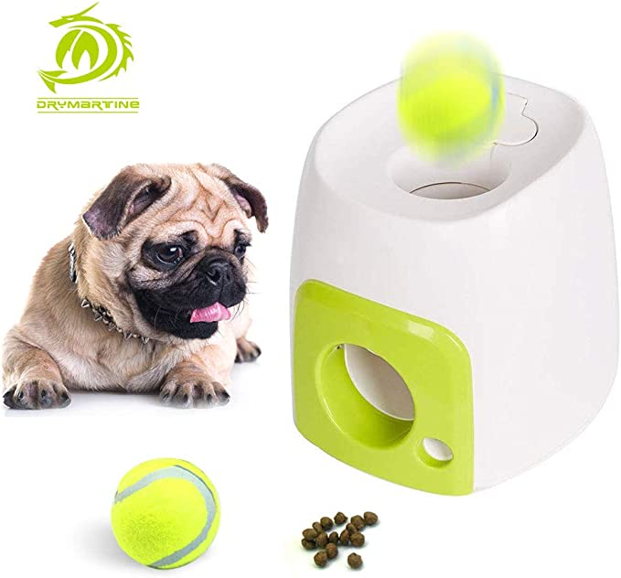 DryMartine Juguete para Perro, Pelota de Tenis interactiva para ...