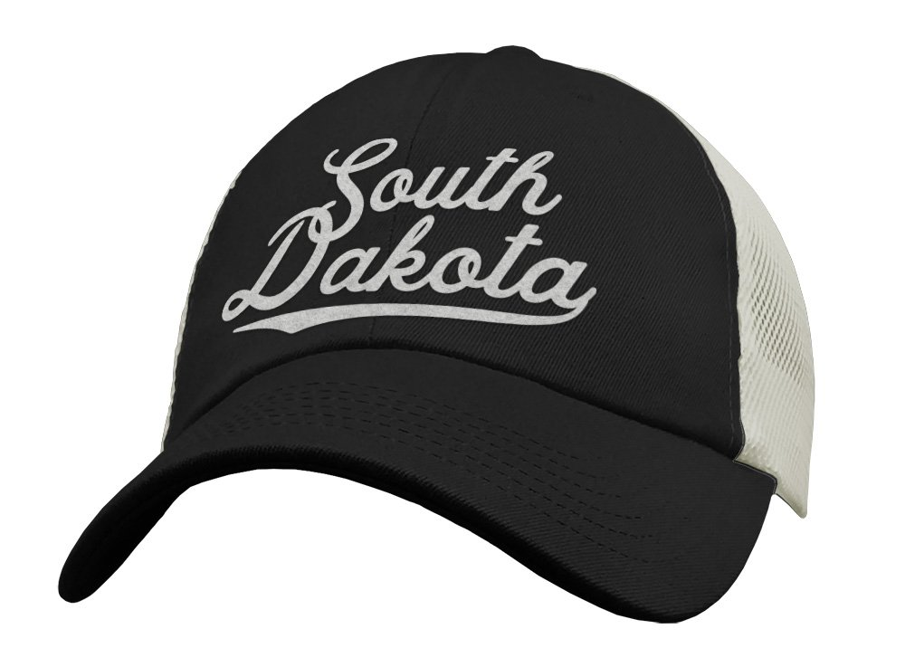 a37f7c39b8214 Amazon.com  State of South Dakota Trucker Hat Baseball Cap - Snapback Mesh  Low Profile Unstructured Sports - SD USA  Handmade