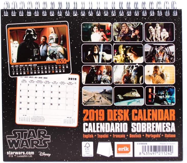 /Calendrier de bureau 2019/Star Wars Classic Grupo Erik Editores cs19008/ 17/x 20/cm