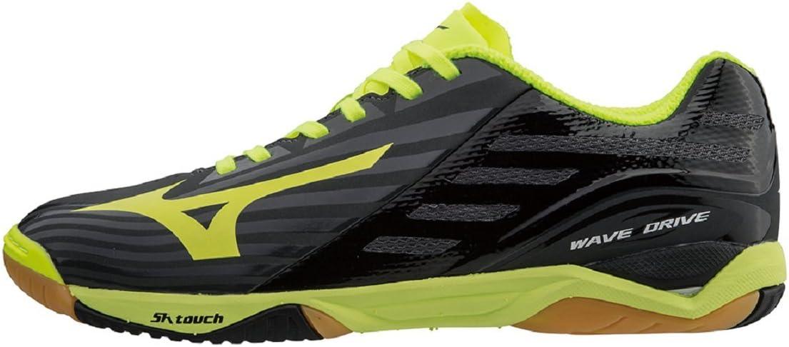 Mizuno Tenis de Mesa Wave Drive Z Black/Yellow, negro, 41: Amazon ...