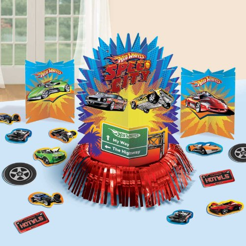 Hot Wheels Table Decorating Kit Party Accessory (Wheels Hot Paper)