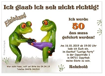 Geburtstagseinladungen Runder Geburtstag Lustig 50 60 70 Für Jedes Jahr Möglich Mit Spruch 20 Einladungen Din A6