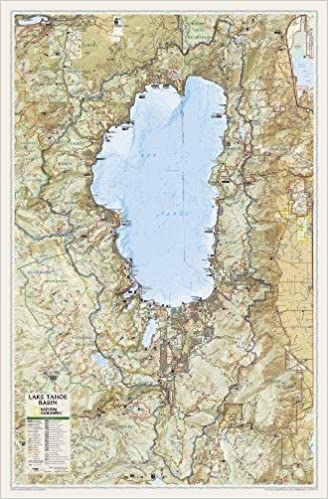 National Geographic: Lake Tahoe Basin Wall Map (26.5 x 40.5 inches ...