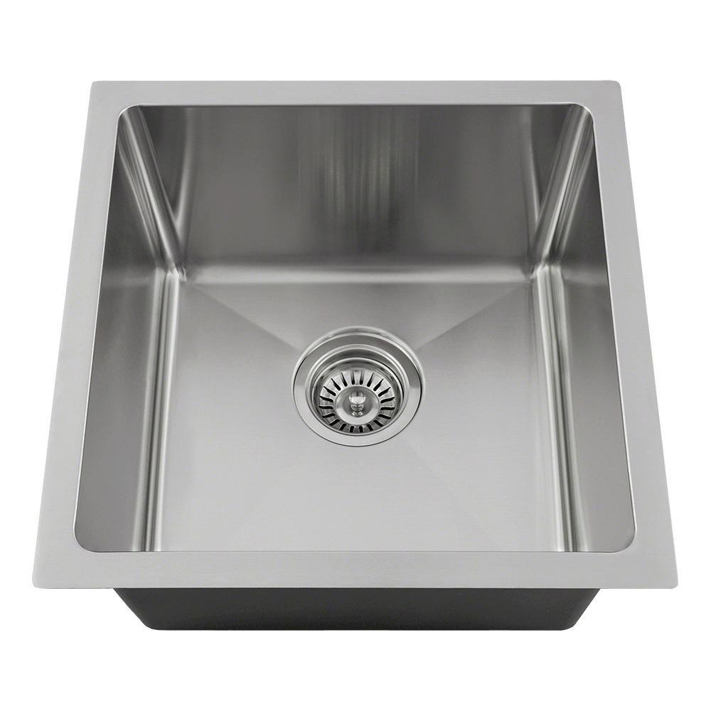 "1717-18 Single Bowl 3/4"" Stainless Steel Sink"