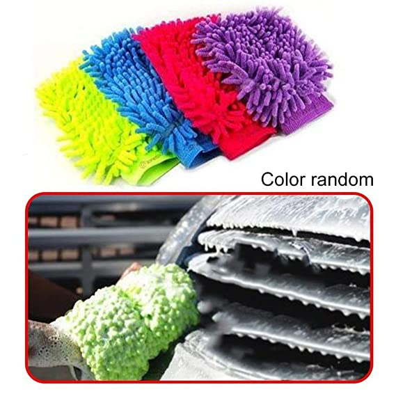 Car care and cleaning,Ultrafine Fiber Mitt Microfiber Household Car Wash Washing Car Cleaning Dry Glove Anti Scratch For Car Cleaning Color Random