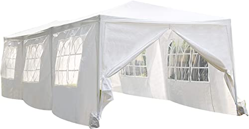 Party Tent 10'x30' Wedding Tent Patio Gazebo Outdoor Carport Sunshade Shelter Pavilion