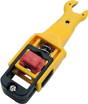 Satix - Pelacables para cable coaxial, color amarillo ...