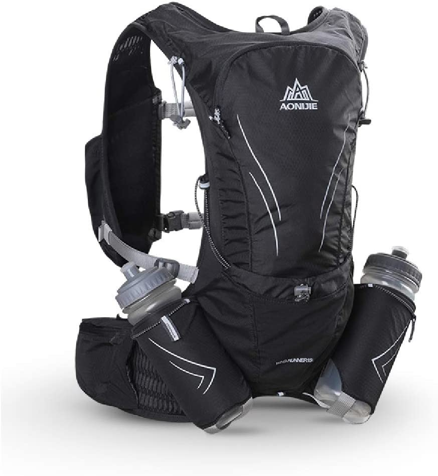 TRIWONDER 15L Ultra Running Vest Marathon Backpack Hydration Pack with Water Bottles