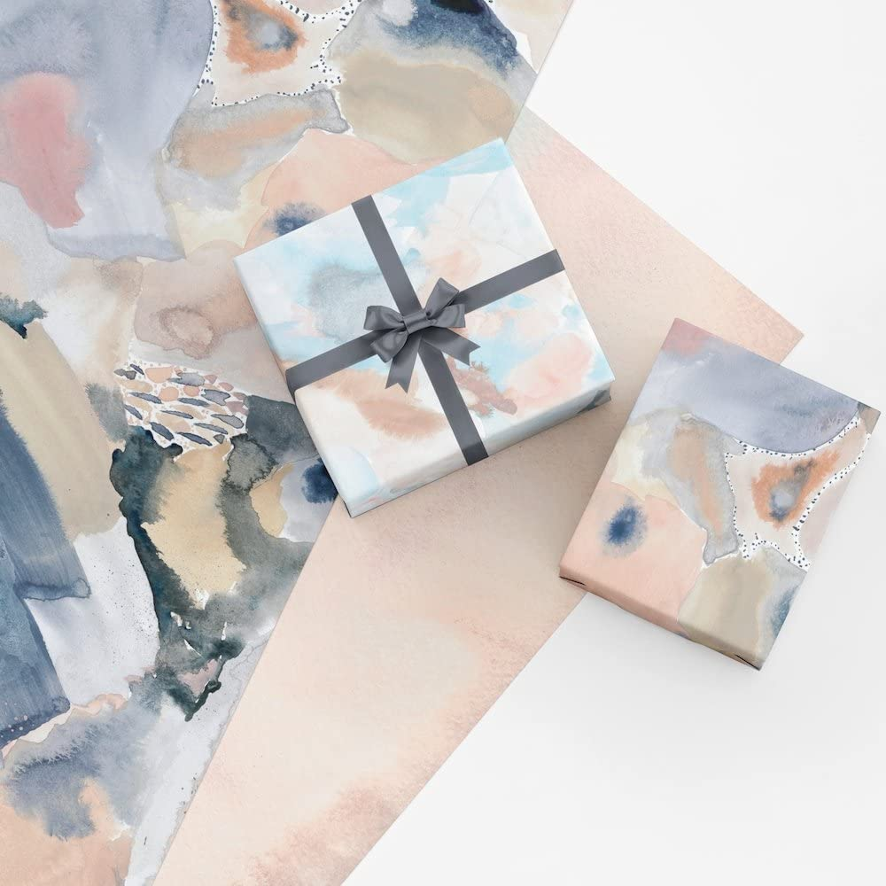 Floral Flower Wrapping Paper  Watercolor Wrapping Paper  Colorful Gift Wrap  Gift Wrap Sheets