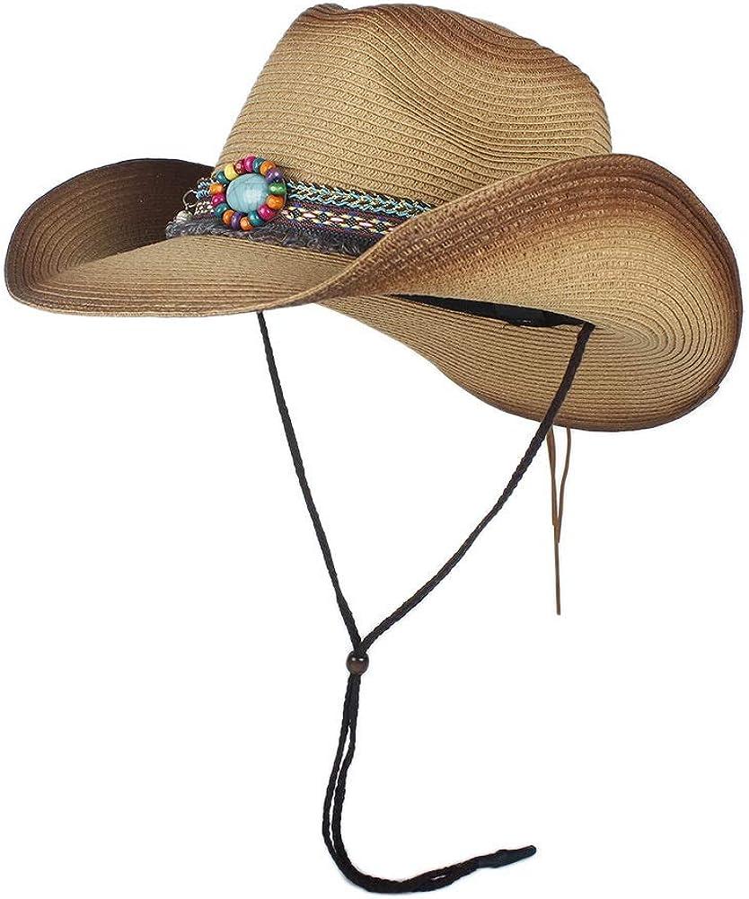 YUXUJ Straw Cowboy Hat Men...