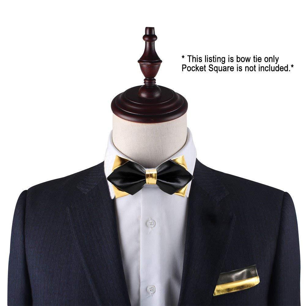 Negro y Oro Pajarita   Corbata de lazo dorada y negra para los ...