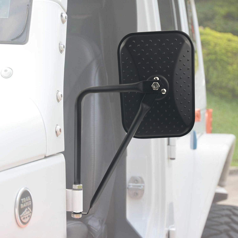 JeCar Door Off Mirrors Rear View Quick Release Mirrors for 1997-2018 Jeep Wrangler TJ JK JKU