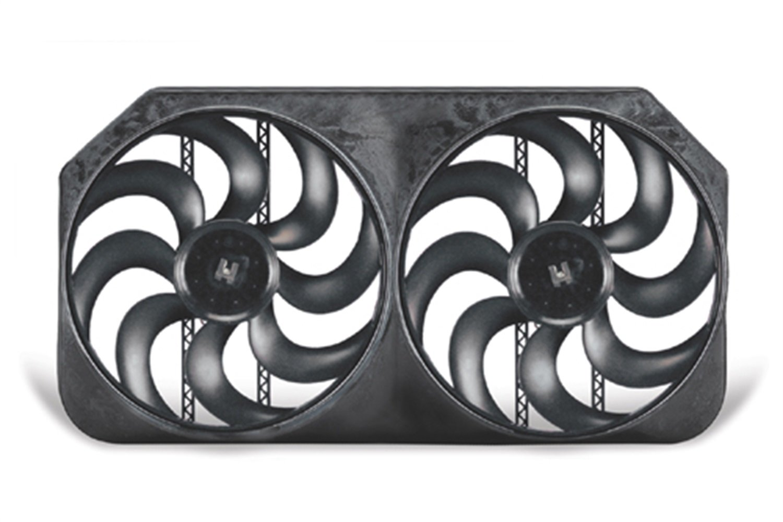 293 15 Universal Dual Shrouded S-Blade Electric Fan Flex-a-lite