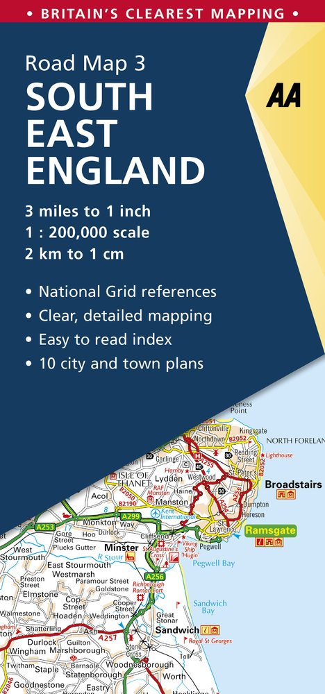 Road Map Britain 3 South East England 1: 250 000 (Aa Road Map Britain)