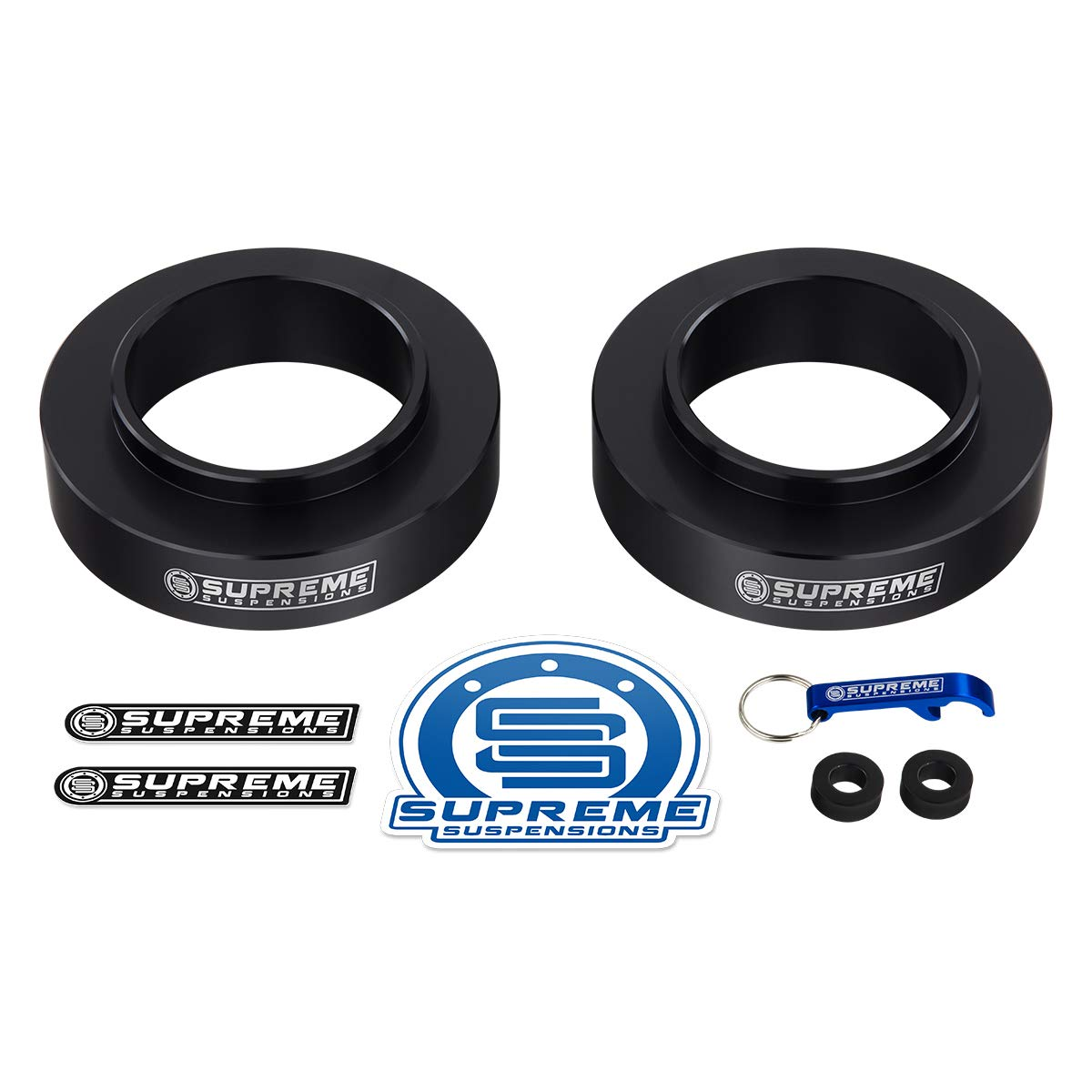 3 Front Lift Spring Spacers for 2004-2012 Chevy Colorado and GMC Canyon Supreme Suspensions 2WD Only