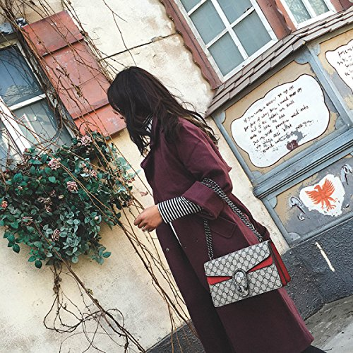 Crossbody Flowers Red Bolsos Colorblocking Old Matte De Hombro BzqtpwEx