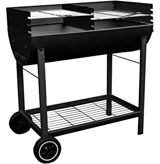 Lovely Kingfisher Outbbq Half Drum Barrel Steel Bbq Barbecue Yard, Garden & Outdoor Living Outdoor Cooking & Eating