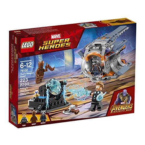61nMFmsLB2L - LEGO Marvel Super Heroes Avengers: Infinity War Thor's Weapon Quest 76102 Building Kit (223 Piece)