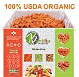 Organic Bentilia Red Lentil Rotini 5lbs Bulk Case - 1 Single Ingredient 100% Natural Non-GMO, Gluten Free Pasta