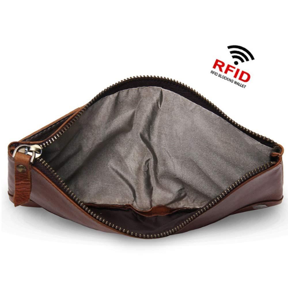 Hinyyee Herrenbrieftasche RFID-Blockierung Kartenhalter Crazy Horse Leder Leder Leder Mehrkartenposition Geld-Paket Tasche B07PBSPDYC Geldbrsen 5aac8c