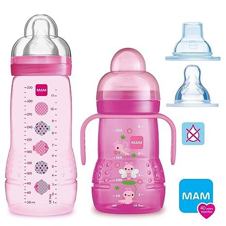 MAM Smart Set Girls a partir de 4 meses // Baby Bottle Easy ...