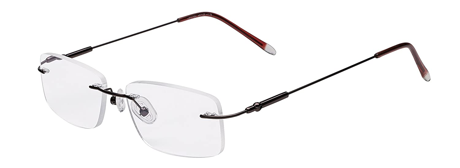 e792adc9c44 Amazon.com  Select-A-Vision Optitek Hi-Tech Anti Glare Rimless Reading  Glasses