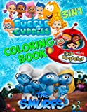 Coloring Book 3 in 1: Smurfs, Little Einsteins, Bubble Guppies
