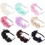 d258ca3a00e6 Candygirl Serre-Tête Fille Enfant Lot de 9 Pièces Couronne Bandeaux Floral  Accessoire à Cheveux