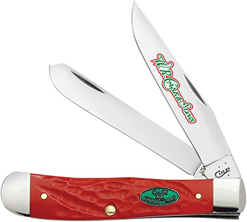 Case Christmas 25672 Dark Red Synthetic Handle Rough Trapper Knife