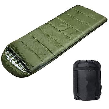 WERTYCITY - Saco de dormir de franela de algodón, cálido y cómodo, resistente al