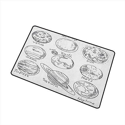 Amazon.com: Sillgt Doodle – Felpudo de dormitorio, temática ...