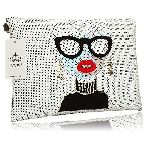 Oversized Clutch Bag Purse, Womens Large Designer leather Evening Wristlet Handbag for Ladies Crystal Designer Handbag
