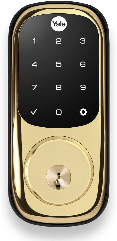 Yale Assure Lockwith Zigbee - Smart Touchscreen Keypad Deadbolt - Works with Xfinity Home, Amazon Echo Show, Amazon Echo Plus and More - Brass