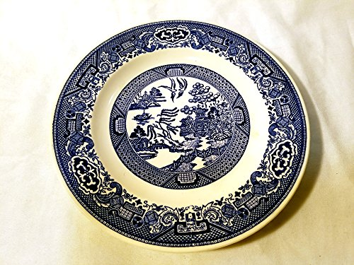 (Willow Ware by Royal China -- 9 Inch Dinner Plate -- World's Most Popular Design)