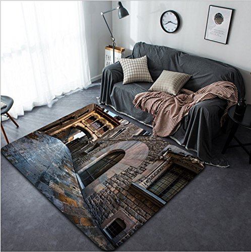 Vanfan Design Home Decorative 235813558 Barri Gothic Quarter and Bridge of Sighs in Barcelona Catalonia Spain Modern Non-Slip Doormats Carpet for Living Dining Room Bedroom Hallway Office Easy Clean F by vanfan