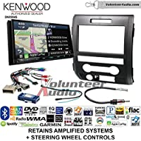 Volunteer Audio Kenwood Excelon DNX994S Double Din Radio Install Kit with GPS Navigation Apple CarPlay Android Auto Fits 2009-2014 F-150