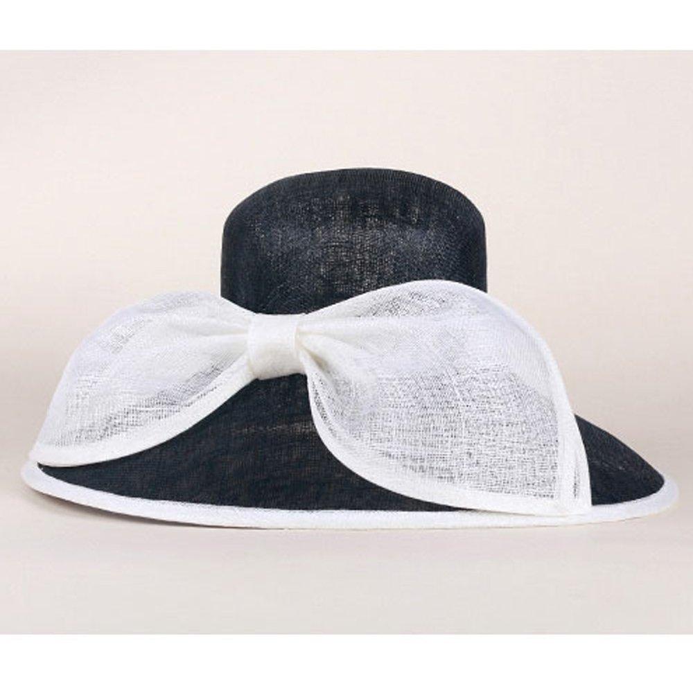 Wedding Hat for Big Wide Church Brim Bowknot Fedora Sinamay Kentucky Derby Hats