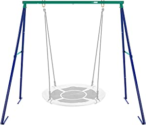 VIVOHOME Metal Frame Full Steel Swing Stand, Hold up to 440 lbs, Saucer Swing NOT Included
