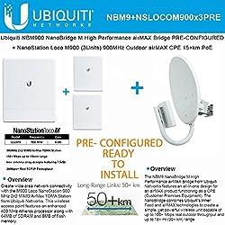 Ubiquiti Nanobridge Nbm900 900mhz Airmax Pre-conf + Nanostation Loco M9 3pack