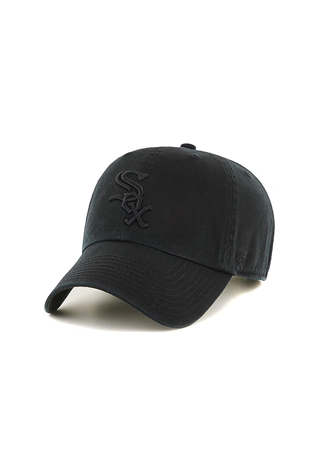 '47 Brand Chicago White Sox Clean Up MLB Strapback Hat Cap All Black Black