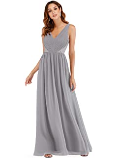 386e2baf3a9c Ever Pretty Women's A Line V Neck with Lace Back Chiffon Long Bridesmaid  Dress 07497
