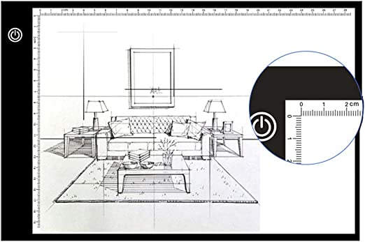 XFXDBT A3 Ultradelgada Tablero De Dibujo,led Caja De Luz Control ...