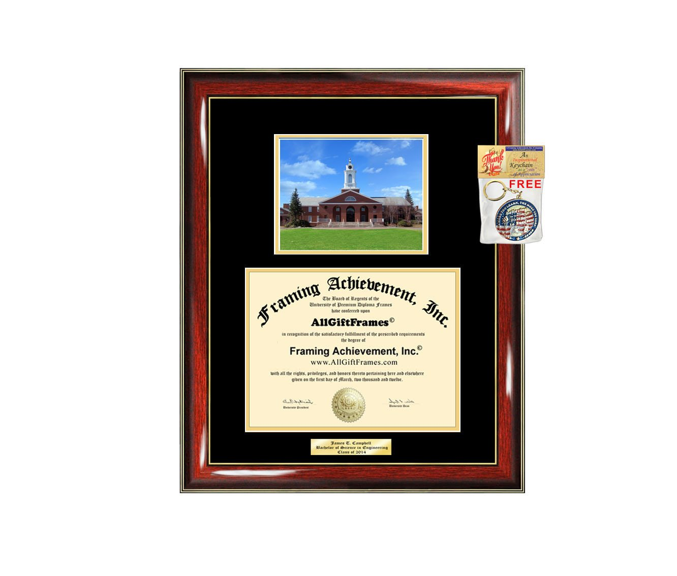 Diploma Frame Bentley University Bentley Graduation Gift Idea Engraved Picture Frames Engraving Degree Graduate Bachelor Masters MBA PHD Doctorate School