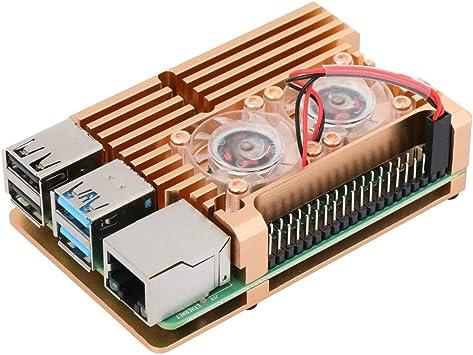 Raspberry Pi 4 Modelo B Carcasa de Aluminio con Doble Ventilador ...