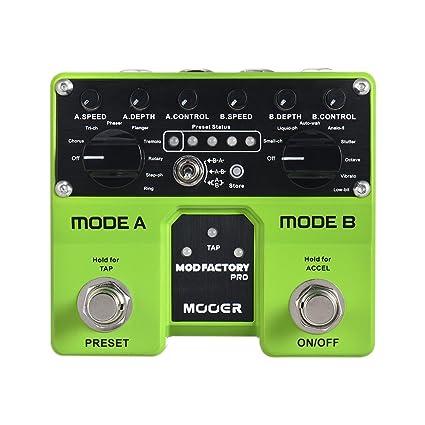 Muslady MODFACTORIO MOOER Módulos Pro Dual Modulación Pedal de Efectos de Guitarra 16 Efectos de Modulación