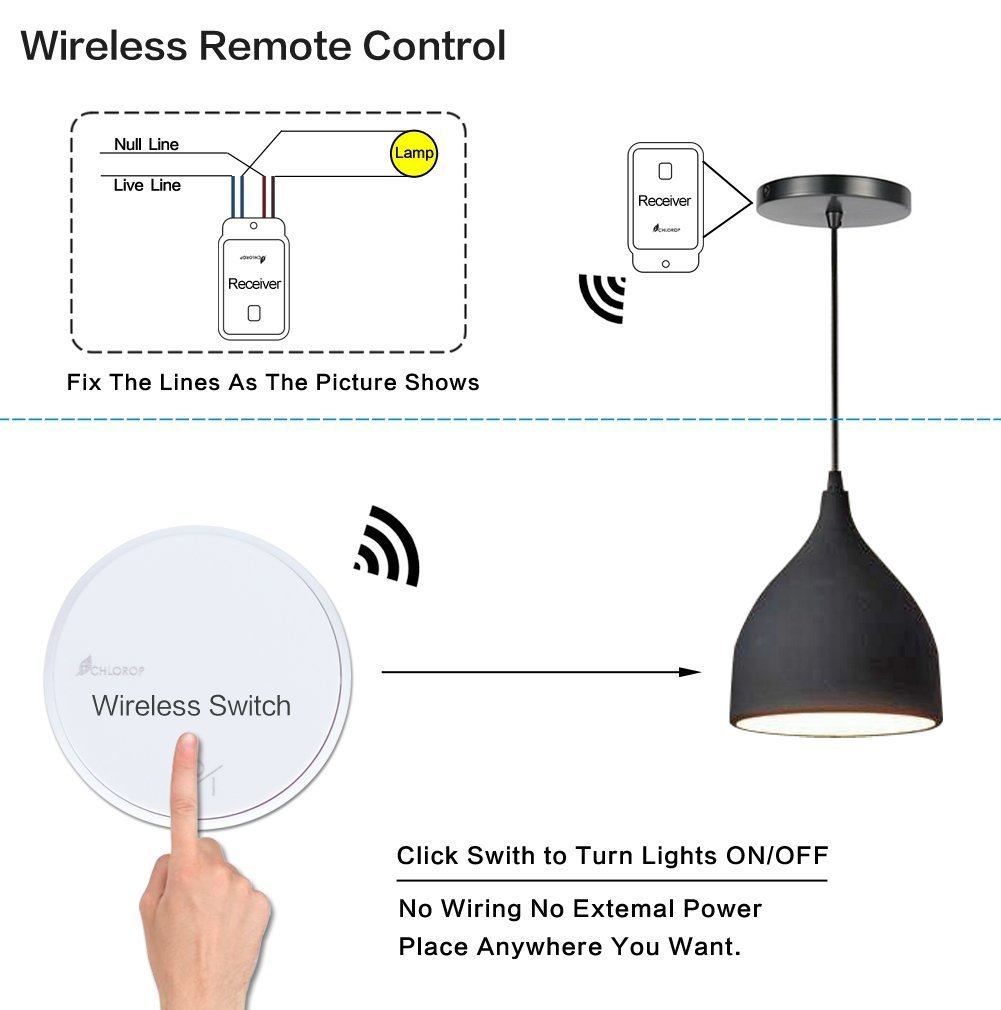 Create 3 Way Wireless Remote Control Light Switches And Receiver Kit Ceiling No Wiring Battery Easily Quickly Switch For Lamps Fans Appliances