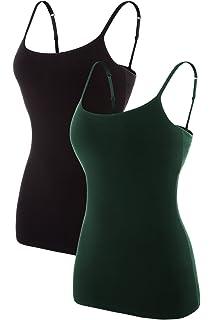 9c5ff5d13d beautyin Women s Cotton Camisole Adjustable Spaghetti Strap Tank Top Shelf  Bra Cami Tanks