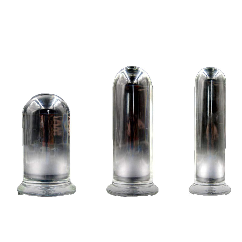 FUYKIN Tshirt 3pcs /Set Transparent Glass Blockage Penis Plugs Huge Big Blockage Plug Large Blockageplug Anus Stimulator Sexxx-Toys for Woman Innovative