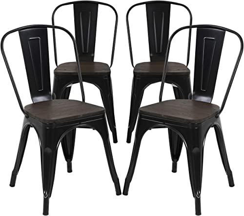 LCH 330LB Metal Bar Stools Set of 4 Counter Height Stools Indoor Outdoor Stackable Bartool